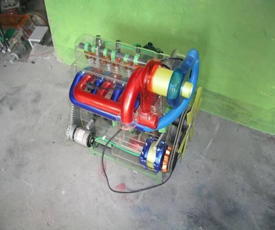 依维柯汽车发动机总成模型
